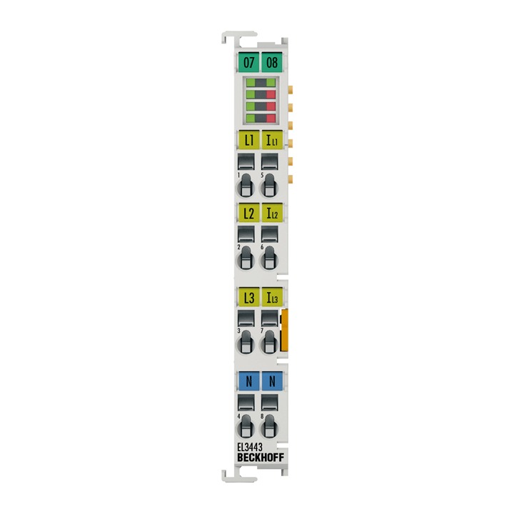 EL3443 | 3-phase power measurement terminal with extended functionality