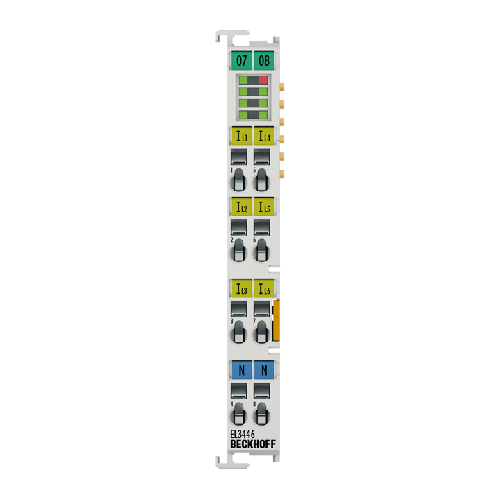 EL3446 | 6-channel current input terminal 1AAC/DC for distributed power measurement