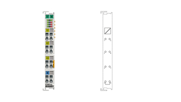 EL3483-0060 | 3-phase mains monitoring terminal with voltage measurement