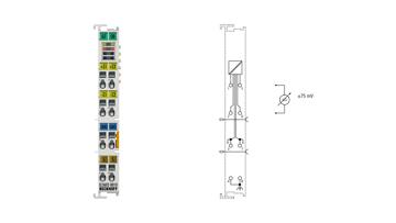 EL3602-0010   2-channel analog input terminal -75…+75mV, differential input, 24bit