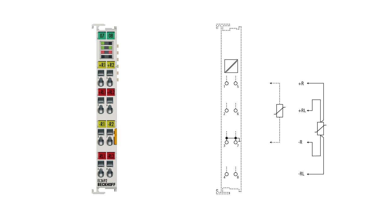 EL3692 | 2-kanalige Widerstandsmessklemme 100mΩ…10MΩ, hochpräzise