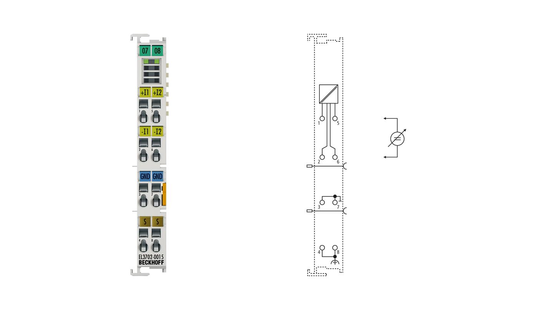 EL3702-0015 | EtherCAT Terminal, 2-channel analog input, voltage, ±150mV, 16bit, oversampling