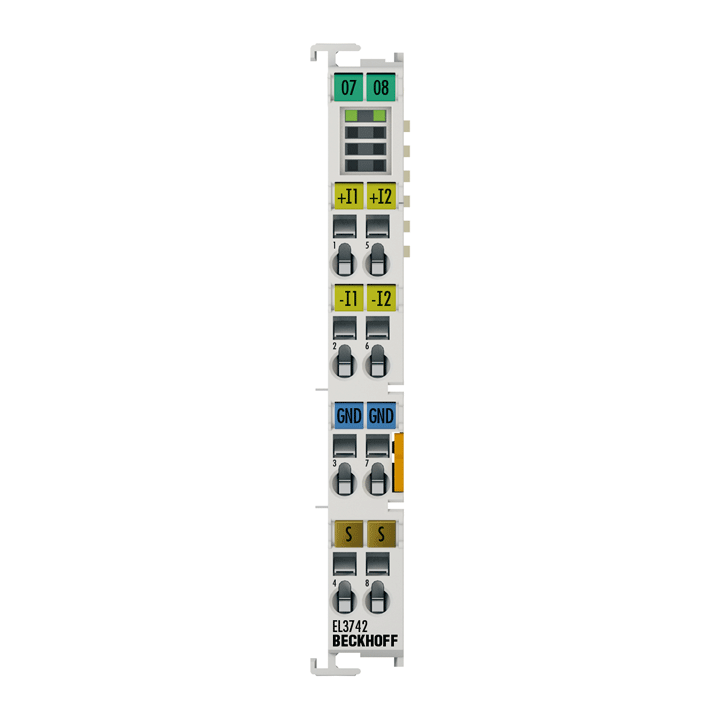 EL3742 | 2-channel analog input terminal 0…20 mA, differential input, with oversampling