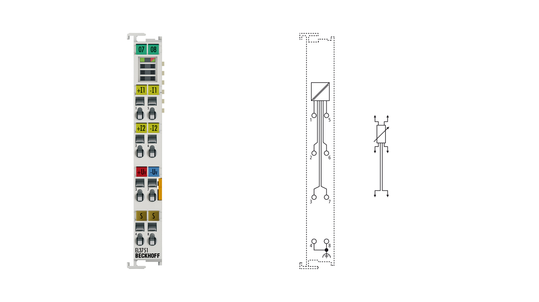 EL3751 | 1-Kanal-Multifunktionseingang für analoge Messtechnik, 24Bit, 10kSps