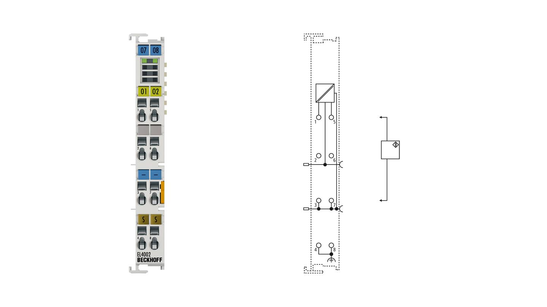 EL4002 | EtherCAT Terminal, 2-channel analog output, voltage, 0…10V, 12bit
