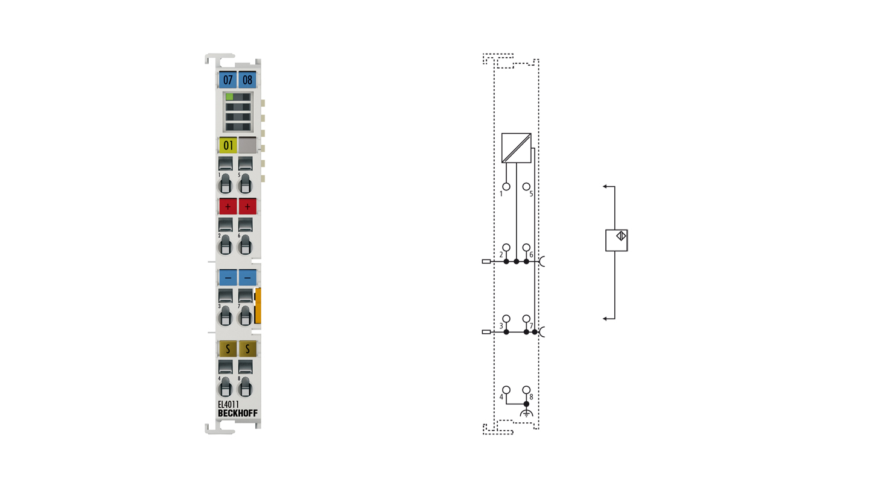 EL4011 | EtherCAT Terminal, 1-channel analog output, current, 0…20mA, 12bit
