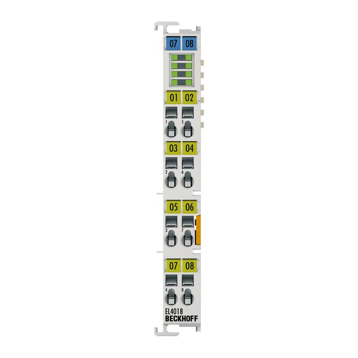 EL4018 | EtherCAT Terminal, 8-channel analog output, current, 0…20mA, 12bit