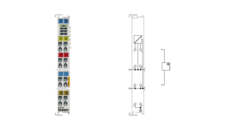 EL4712 | EtherCAT Terminal, 2-channel analog output, current, 0…20mA, 16bit, oversampling