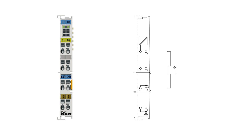 EL4732 | 2-channel analog output terminal -10…+10V with oversampling