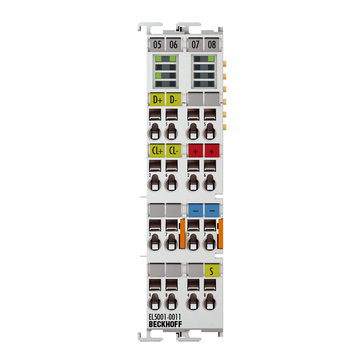 EL5001-0011   EtherCAT Terminal, 1-channel encoder interface, SSI, monitor