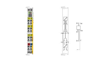 EL5021-0090 | EtherCAT Terminal, 1-channel encoder interface, SinCos, 1Vpp, TwinSAFESC