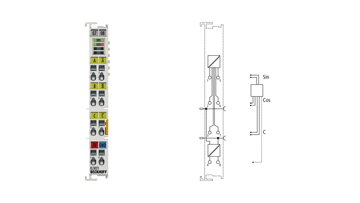 EL5021 | 1-channel SinCos encoder interface, 1VPP