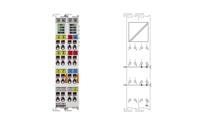 EL5101-0011 | EtherCAT Terminal, 1-channel encoder interface, incremental, 5VDC (DIFFRS422), 5MHz, oversampling
