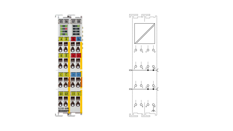 EL5101-0090 | Inkremental-Encoder-Interface, RS422, TTL, 1 MHz, TwinSAFE SC