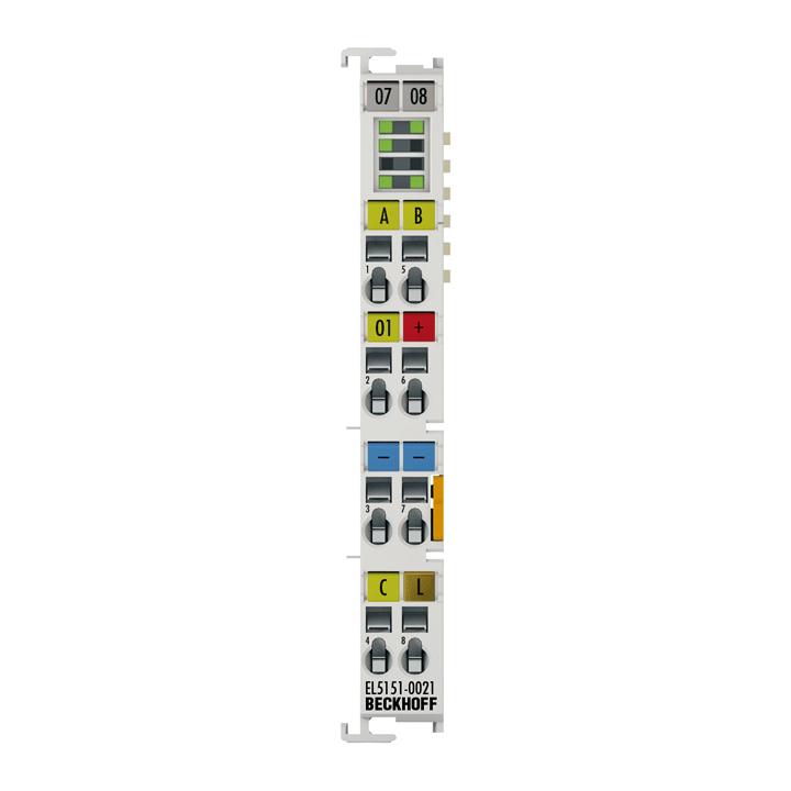 EL5151-0021 | EtherCAT Terminal, 1-channel encoder interface, incremental, 24VDCHTL, 100kHz, with1xdigitaloutput 24VDC
