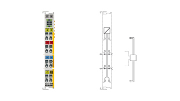 EL5151-0090 | EtherCAT Terminal, 1-channel encoder interface, incremental, 24VDCHTL, 100kHz, TwinSAFESC