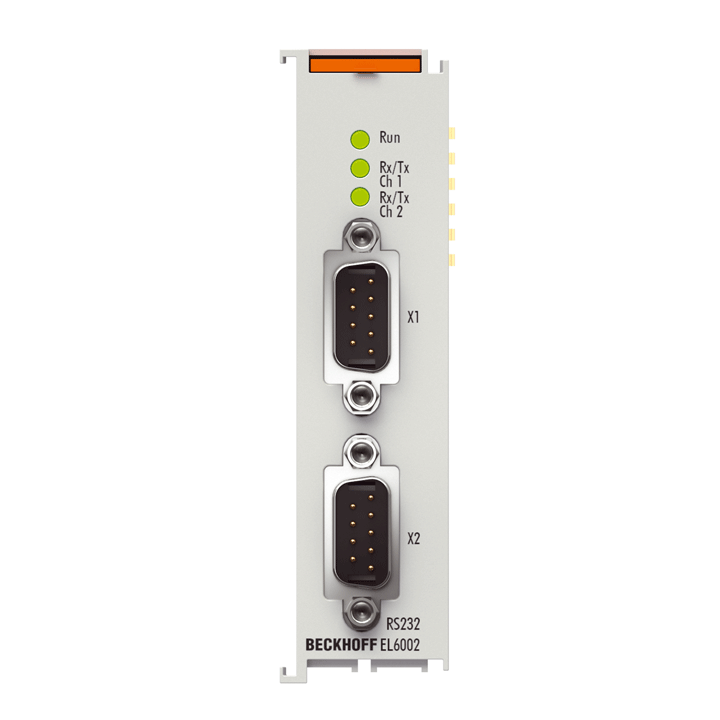 EL6002 | 2-channel serial interface RS232, D-sub connection