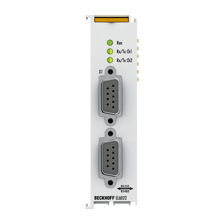 EL6022 | 2-channel serial interface RS422/RS485, D-sub connection