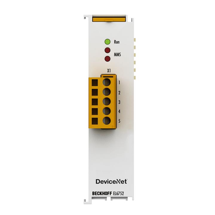 EL6752 | EtherCAT Terminal, 1-channel communication interface, DeviceNet, master