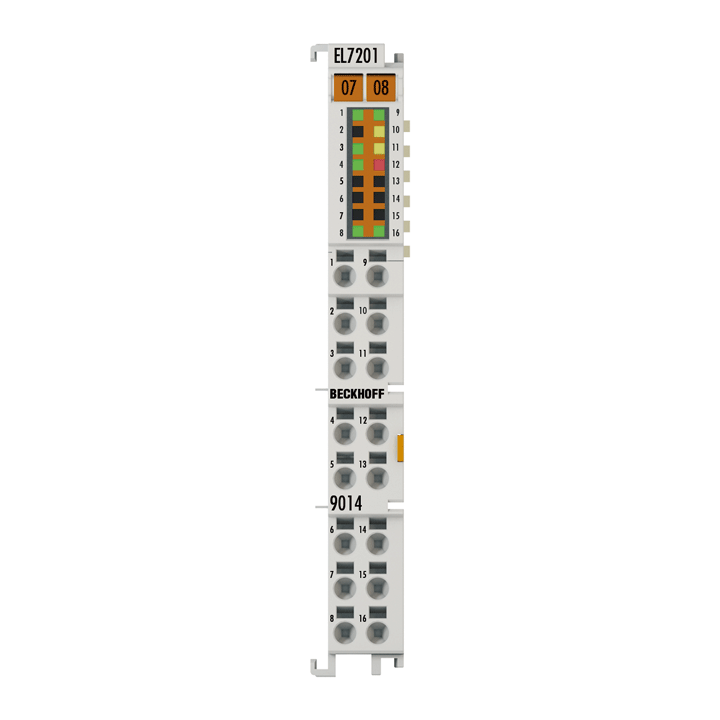 EL7201-9014 | EtherCAT Terminal, 1-channel motion interface, servo motor, 48VDC, 2.8A, OCT, suitable for STO applications
