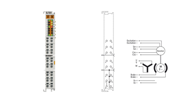 EL7201 | Servomotor terminal for resolver, 48VDC, 2.8A(Irms)