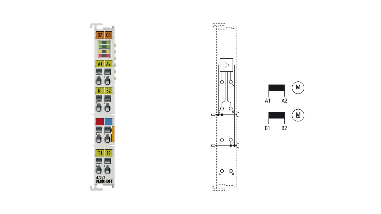 EL7332 | 2-Kanal-DC-Motorklemme, 24VDC, 1A