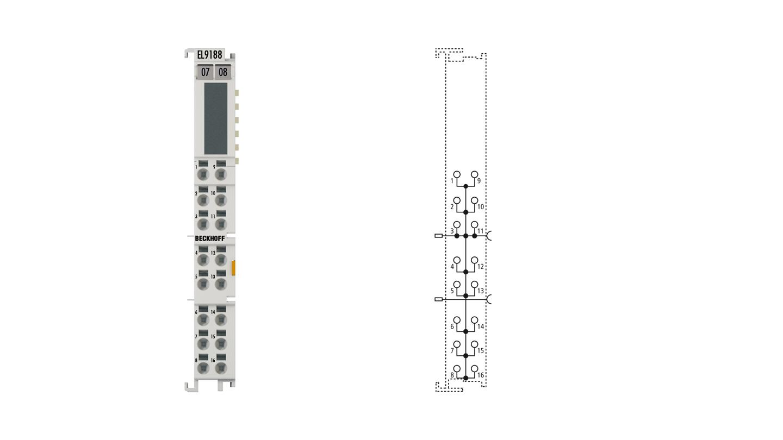 EL9188 | Potenzialverteilungsklemme, 16x 24VDC