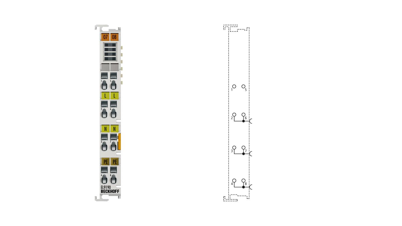 EL9190 | Potential supply terminal, any voltage up to 230VAC