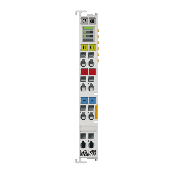 EL9221-9060 | Overcurrent protection terminal, 24VDC, 1-channel, 6A