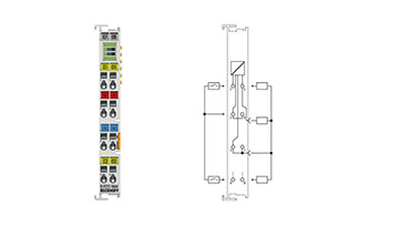 EL9222-9664 | Overcurrent protection terminal, 24VDC, 2-channel, 6 A/4 A
