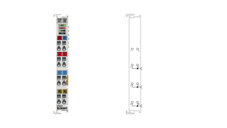 EL9410 | Power supply terminal for E-bus, with diagnostics
