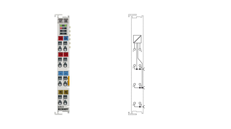 EL9512 | Netzteilklemme 12VDC