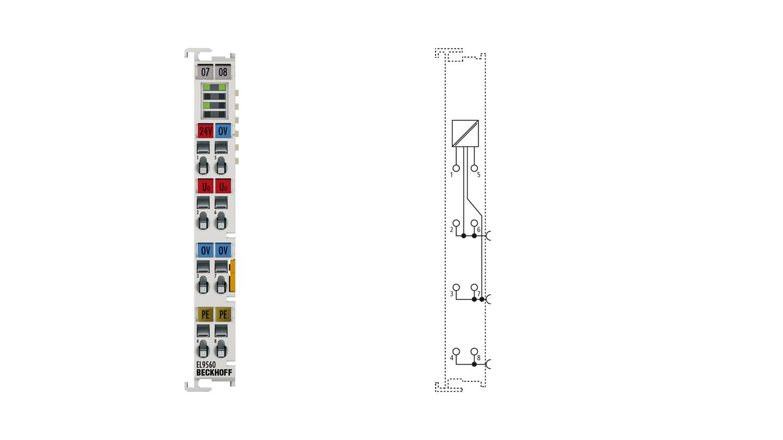 EL9560 | Netzteilklemme 24VDC/24VDC, 0,1A