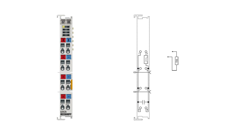 EL9570 | Buffer capacitor terminal, 48V, 500µF