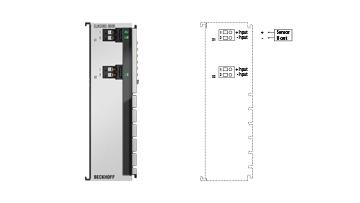 ELM3002-0000 | 2-channel analog input terminal ±30V…±20mV, 24bit, 20ksps
