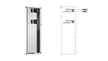 ELM3002-0030 | EtherCAT Terminal, 2-channel analog input, voltage, ±30V…±20mV, 24bit, 20ksps, externally calibrated