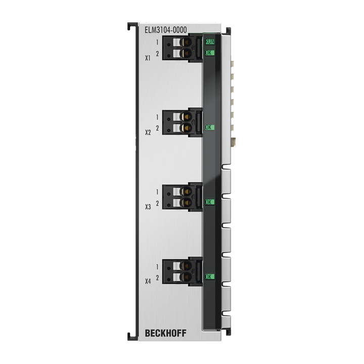 ELM3104-0000 | 4-channel analog input terminal -20/0/+4…+20mA, 24bit, 10ksps