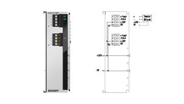 ELM3142-0000 | 2-channel analog input, ±10…±1.25V, ±20mA, 24bit, 1ksps