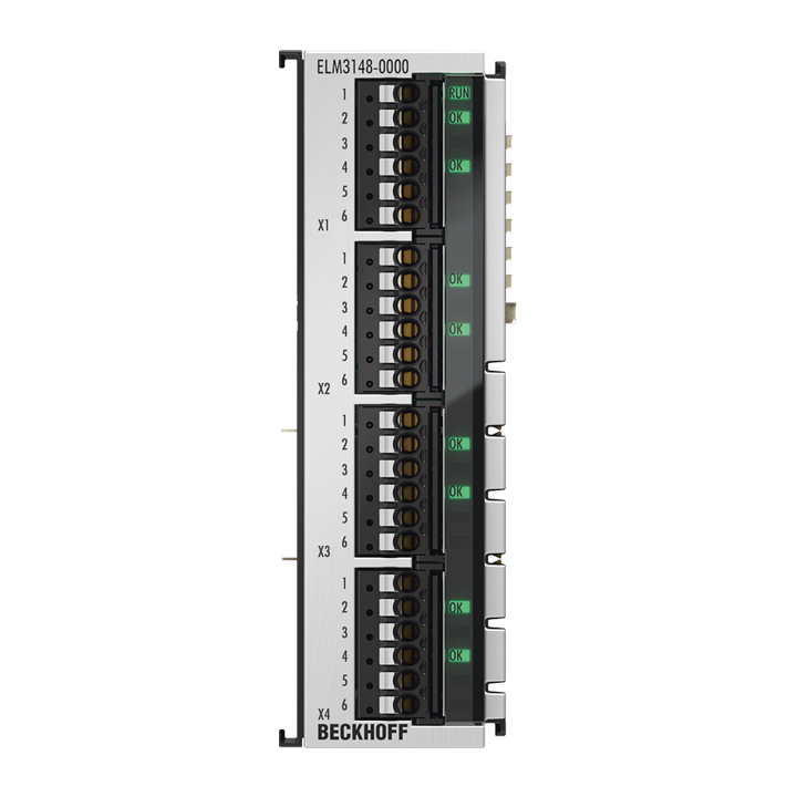 ELM3148-0000 | EtherCAT Terminal, 8-channel analog input, multi-function, ±10…±1.25V, ±20mA, 24bit, 1ksps