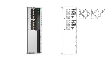 ELM3502-0000 | 2-channel measuring bridge analysis, full/half/quarter bridge, 24bit, 20ksps