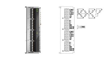 ELM3542-0000 | 2-channel measuring bridge analysis, full/half/quarter bridge, 24bit, 1ksps, TEDS