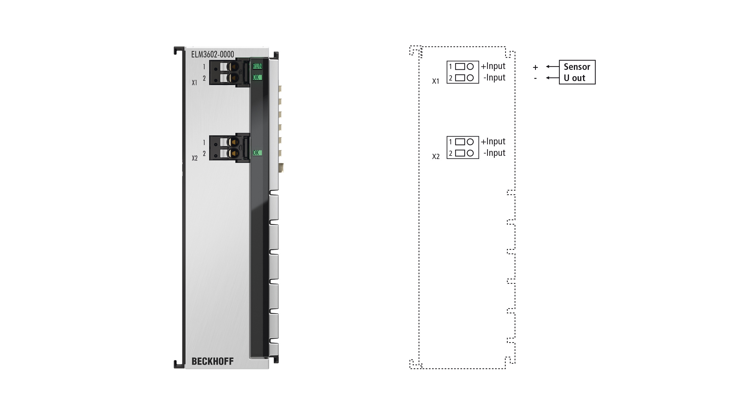 ELM3602-0000 | EtherCAT Terminal, 2-channel analog input, IEPE/accelerometer, 24bit, 50ksps