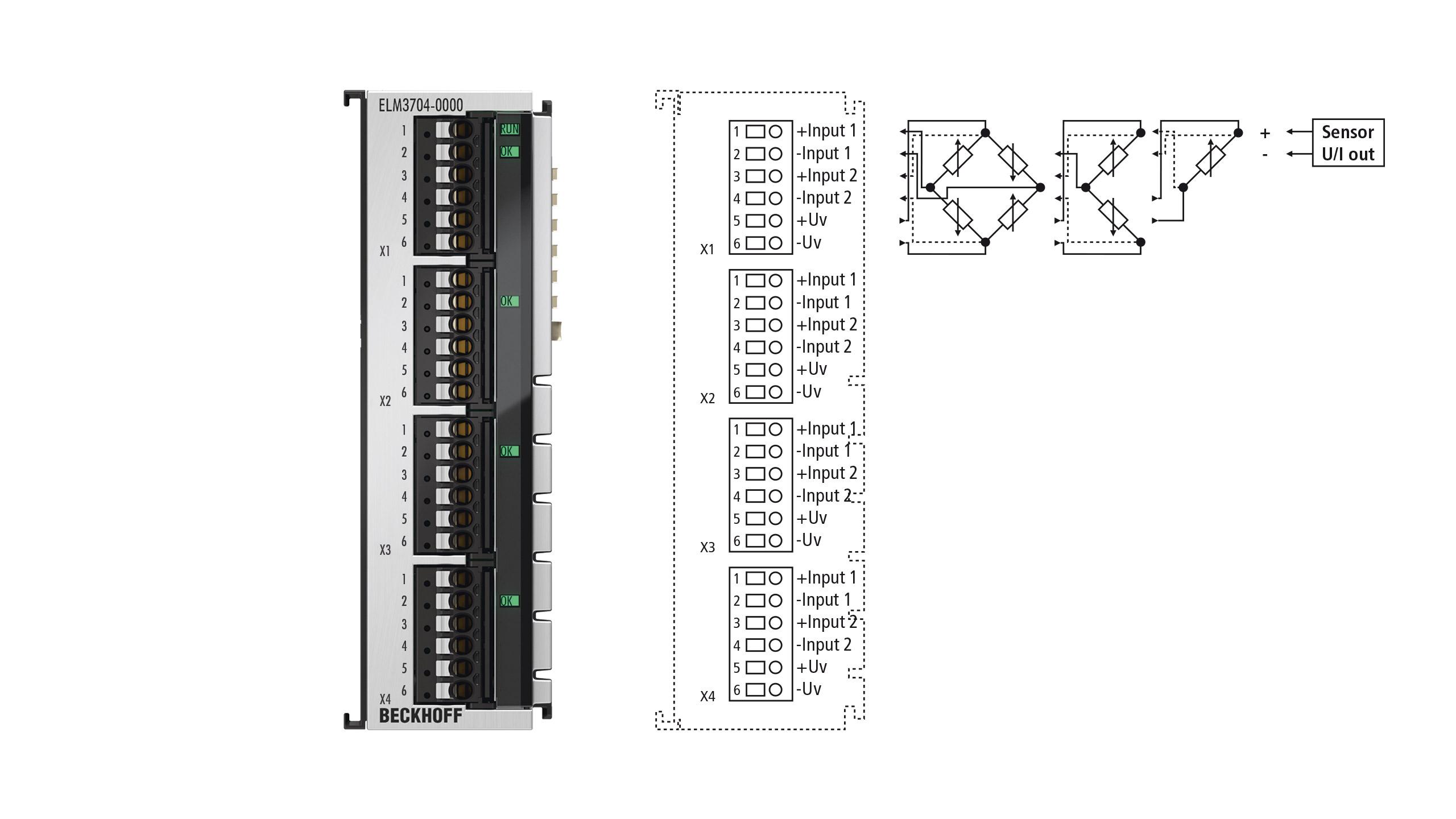 ELM3704-0000 | 4-channel multi-functional input, 24bit, 10ksps