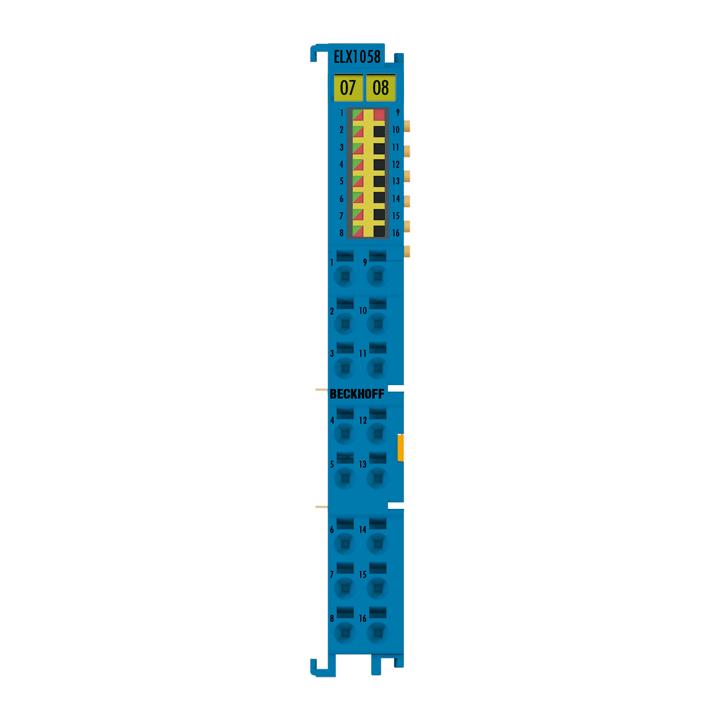 ELX1058 | EtherCAT Terminal, 8-channel digital input, NAMUR, Exi