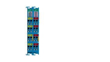 ELX3158 | EtherCAT Terminal, 8-channel analog input, current, 4…20mA, 16bit, single-ended, Exi