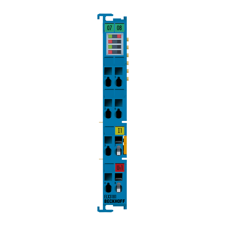 ELX3181 | 1-Kanal-Analog-Eingangsklemme 4…20mA, single-ended, HART, 16Bit, Exi