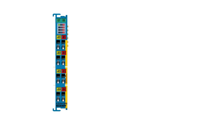 ELX3204-0090 | 4-channel analog input terminal RTD, 2-wire connection, 16bit, Exi, TwinSAFESC