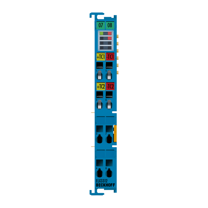 ELX3312 | 2-channel analog input terminal thermocouple/mV measurement, 2-wire connection, 16bit, Exi