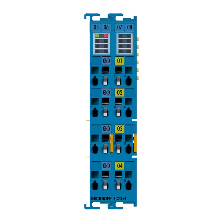 ELX4154 | 4-Kanal-Analog-Ausgangsklemme 0/4…20mA, single-ended, 16Bit, Exi