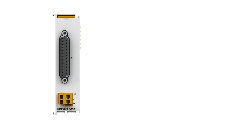 EM2042 | 16-channel digital output 24V, 0.5A, D-sub connection
